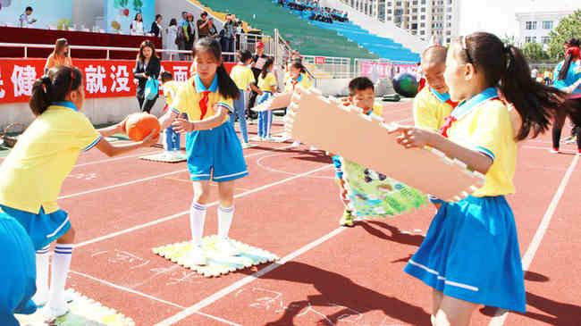 靜海區舉辦中小學生農家樂趣味運動會