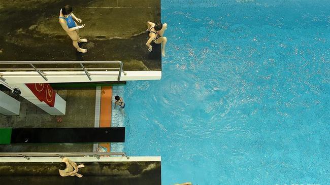 天津跳水队备战全运会