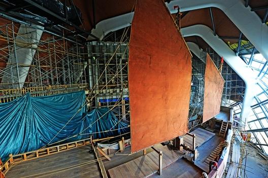 """國家海洋博物館""""宋元福船""""復原項目主體驗收通過"""