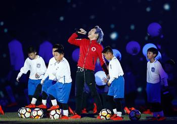 足球――中超联赛开幕式在天津举行