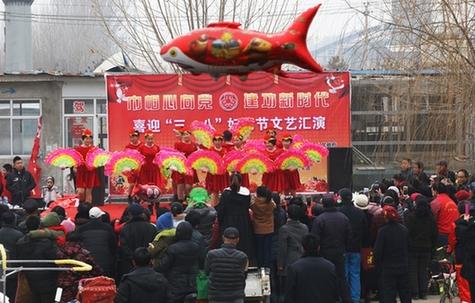 """蓟州区礼明庄镇和志愿者团队举办迎""""三八""""文艺汇演"""