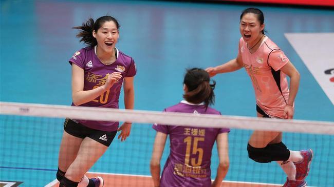排球——女排聯賽決賽第三回合:天津勝上海