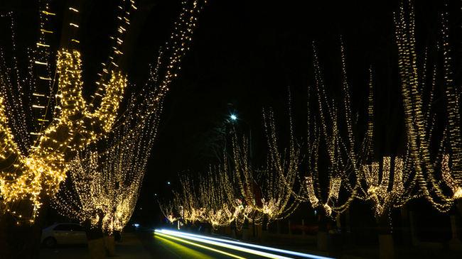蓟州区出头岭镇打造乡村斑斓夜景