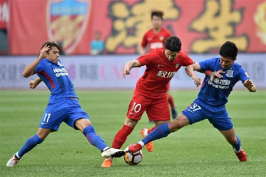 中超联赛:天津权健胜上海绿地申花