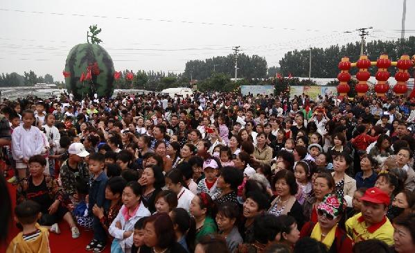 静海区举办西瓜文化节