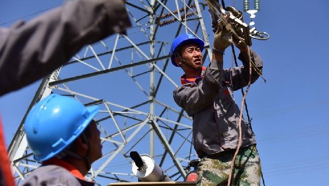 天津電力︰加緊(jin)南蔡站配套220千(qian)伏線路施工
