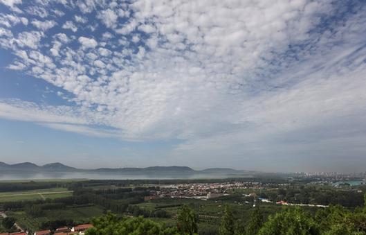 天津薊州區于橋水庫雲天相伴展美韻