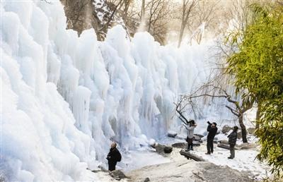 盤山冰瀑(pu)宛(wan)若仙境