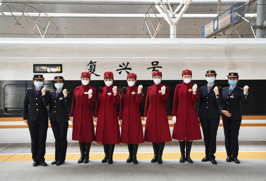 """""""三八(ba)""""在即堅守在京津高鐵線上的戰""""疫""""女兵(bing)"""