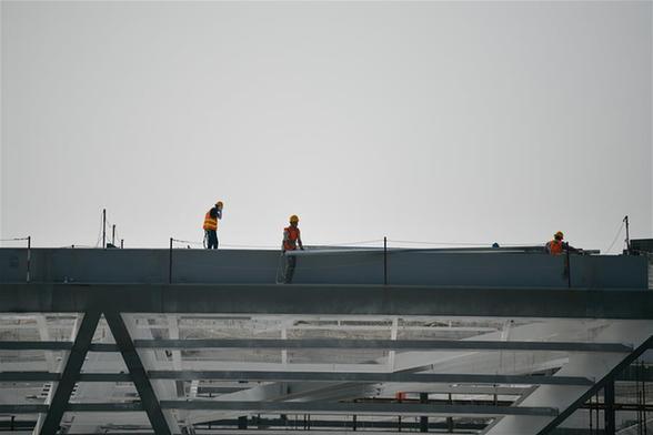 天津國家會展中心施工進度穩步推進