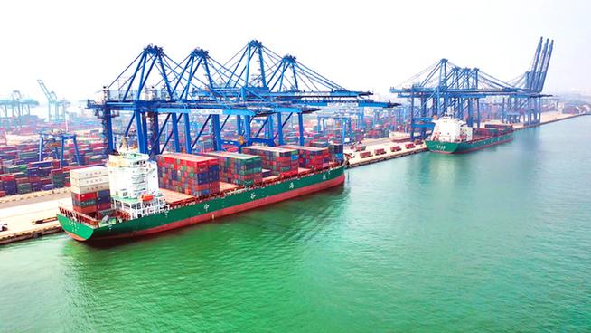 天津港內貿集裝箱吞吐量大幅增長 暢通國內經濟大循環