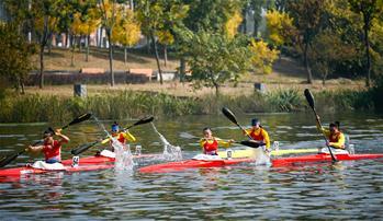 皮劃艇——皮劃艇國家隊舉行隊內21公裏皮劃艇馬拉松賽
