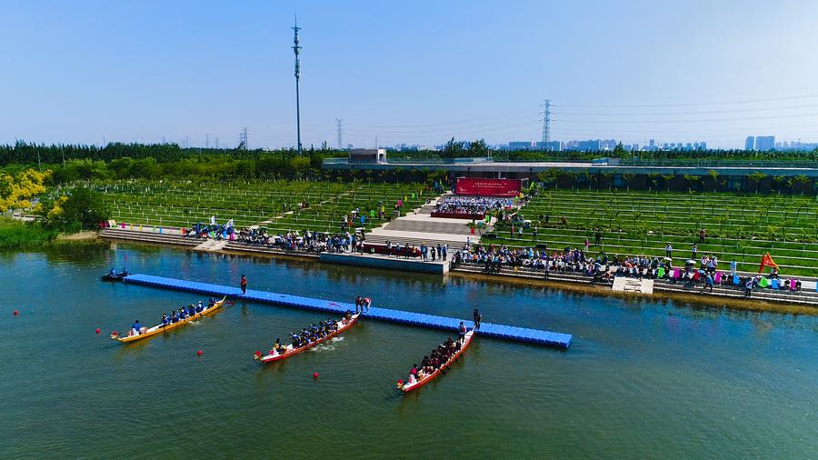 海河教育園區舉行大學生龍舟邀請賽