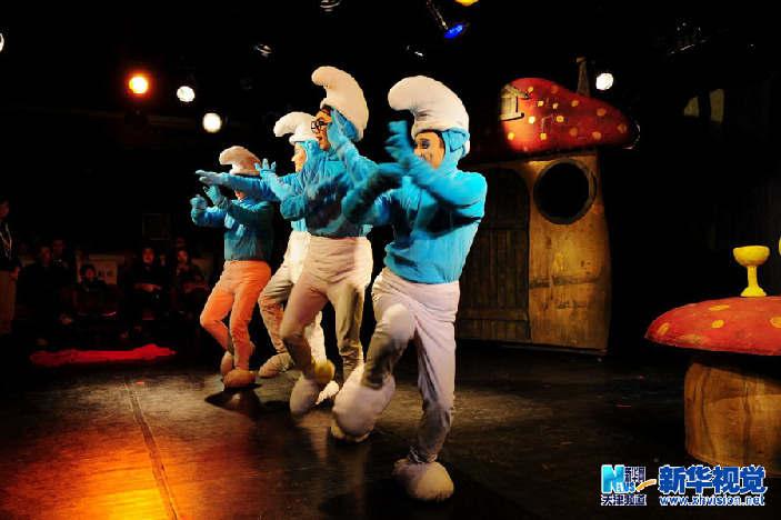 天津民营剧团推出儿童话剧《蓝精灵蓝妹妹》